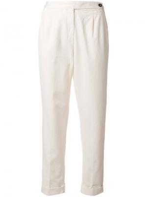 Укороченные брюки Massimo Alba. Цвет: телесный
