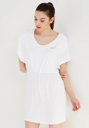 Платье EA7. Цвет: белый
