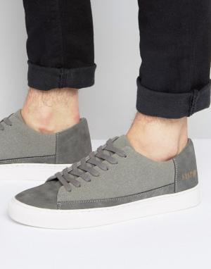 Systvm Серые низкие кроссовки. Цвет: серый