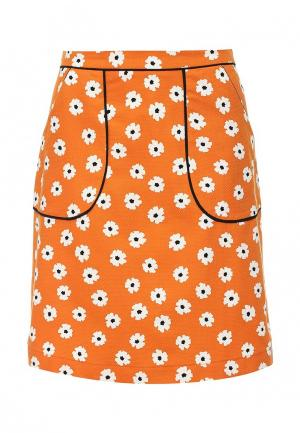 Юбка Dorothy Perkins. Цвет: оранжевый