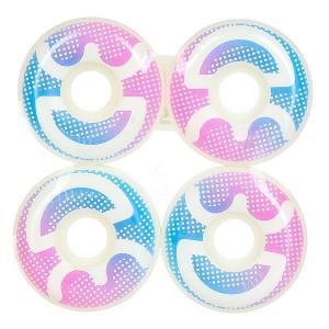 Колеса для скейтборда  Logo Dots 55 mm 3D. Цвет: белый,голубой,розовый