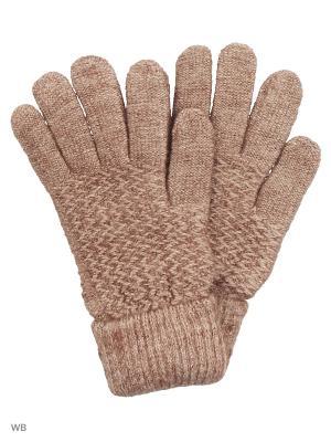 Перчатки UFUS. Цвет: коричневый