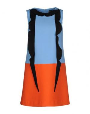 Короткое платье GIULIA ROSITANI. Цвет: небесно-голубой