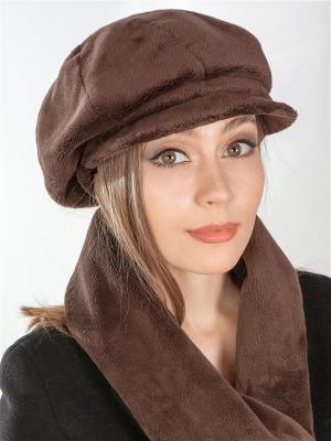 Кепка, шарф LORICCI. Цвет: коричневый