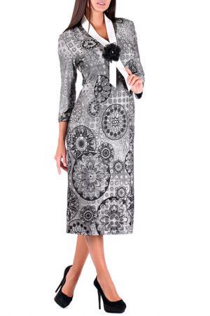 Платье Mannon. Цвет: серый