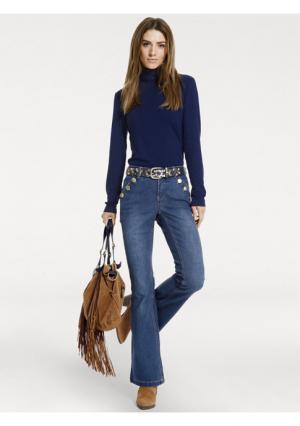 Расклешенные джинсы Rick Cardona. Цвет: синий потертый