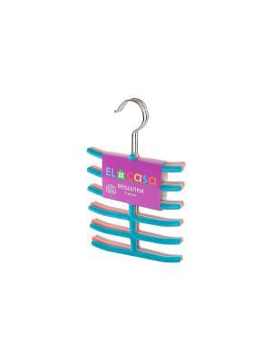 Набор вешалок из 3 штук EL CASA. Цвет: серый, голубой, розовый