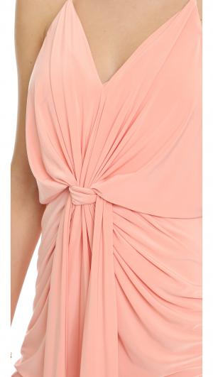 Knee Length Dress with Knot Detail MISA