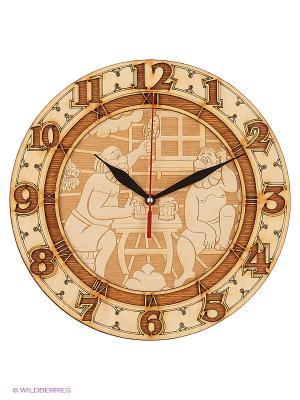 Часы для бани бондар ЧРГ-3 Метиз. Цвет: желтый