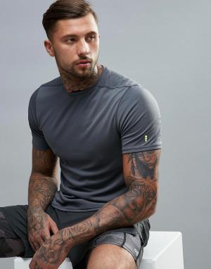 New Look Серая спортивная футболка с сетчатой отделкой. Цвет: серый
