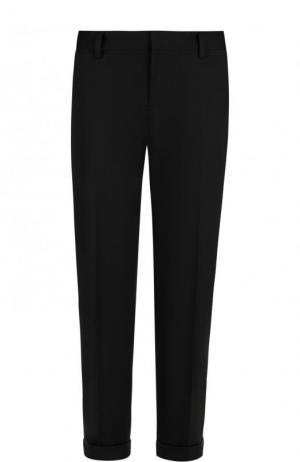 Укороченные однотонные брюки со стрелками Dsquared2. Цвет: черный