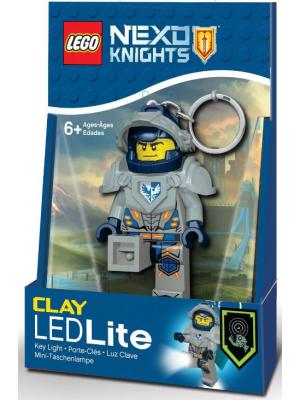 Брелок-фонарик для ключей LEGO Nexo Knights (Рыцари Нексо)- Clay. Цвет: темно-синий, серый, желтый