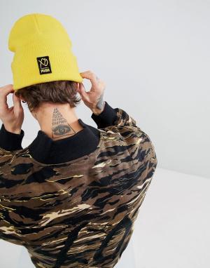 Puma Желтая шапка-бини x XO 02161301. Цвет: желтый