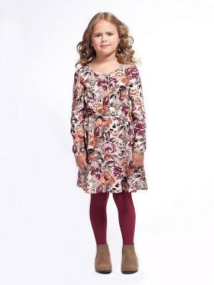 Платье Vilatte. Цвет: светло-бежевый, оливковый, бордовый