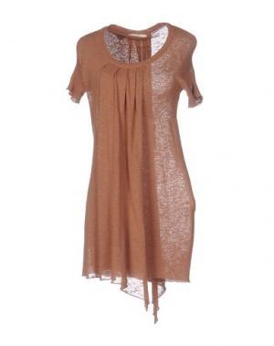 Короткое платье NIOI. Цвет: коричневый