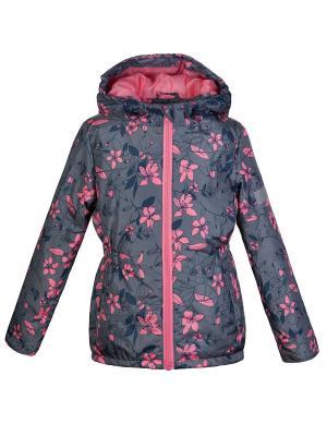 Куртка Oldos. Цвет: серый,розовый