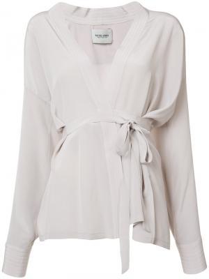Блузка с запахом Rachel Comey. Цвет: телесный