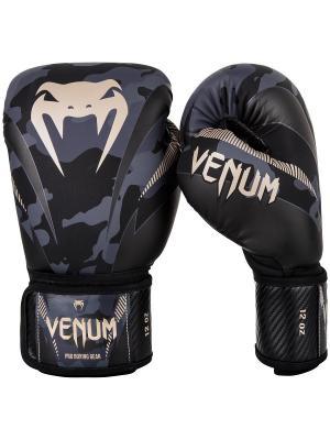 Перчатки Impact Dark Camo/Sand Venum. Цвет: черный