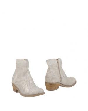 Полусапоги и высокие ботинки FABRIZIO CHINI. Цвет: платиновый
