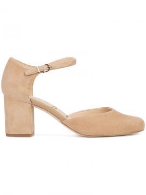 Туфли с ремешком на щиколотке Sam Edelman. Цвет: коричневый
