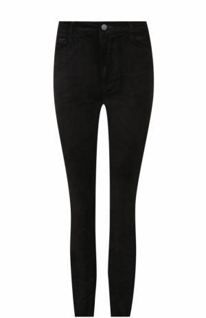 Бархатные брюки-скинни Paige. Цвет: черный
