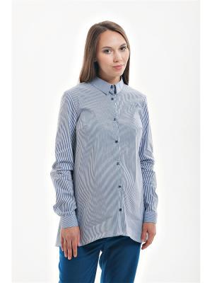 Блуза для беременных week by. Цвет: синий, белый