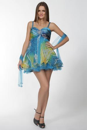 Платье Aeelis. Цвет: голубой