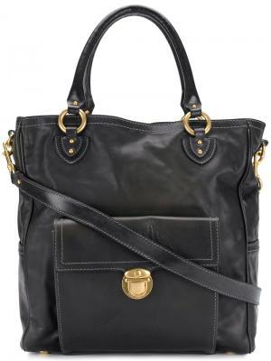 Дорожная сумка с портфельной застежкой Marc Jacobs. Цвет: чёрный