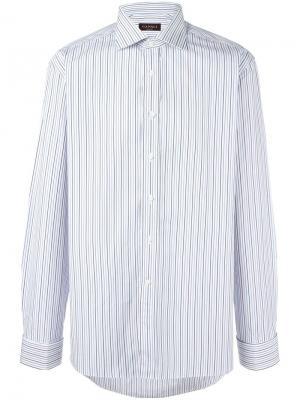Рубашка в тонкую полоску Canali. Цвет: белый