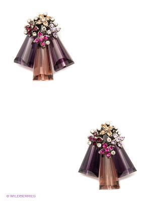 Серьги Kameo-bis. Цвет: фиолетовый, розовый, бежевый