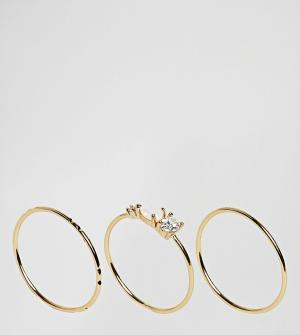 Orelia Набор колец с камнями. Цвет: золотой