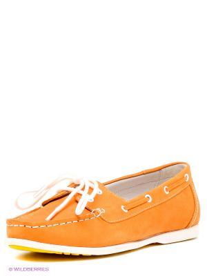 Мокасины MILANA. Цвет: оранжевый