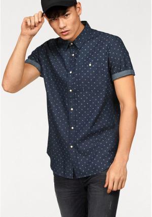 Рубашка с короткими рукавами JOHN DEVIN. Цвет: индиго потертый