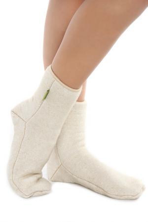 Носки компрессионные HOLTY. Цвет: бежевый