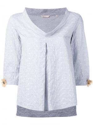 Shelia flower sleeve blouse Xacus. Цвет: синий