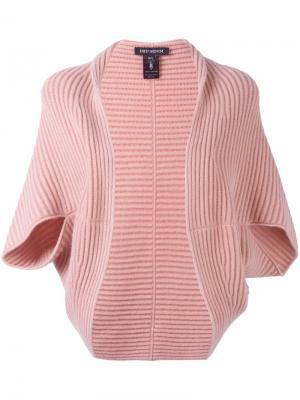Кашемировый кардиган Bento Iris Von Arnim. Цвет: розовый и фиолетовый