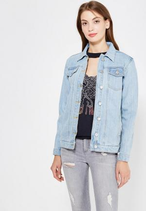 Куртка джинсовая Miss Selfridge. Цвет: голубой