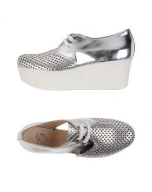Обувь на шнурках HÉCOS. Цвет: серебристый
