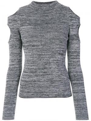 Джемпер с открытыми плечами Zoe Jordan. Цвет: серый