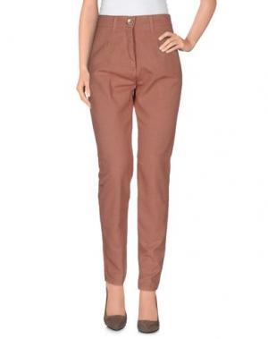 Повседневные брюки OPERÀ. Цвет: коричневый