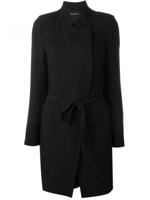 Плиссированное пальто Ann Demeulemeester. Цвет: чёрный