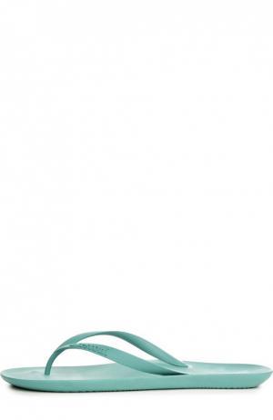Резиновые шлепанцы с тиснением A. Testoni. Цвет: мятный