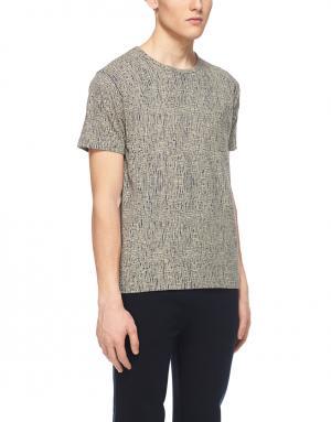 Хлопковая футболка YMC. Цвет: серый