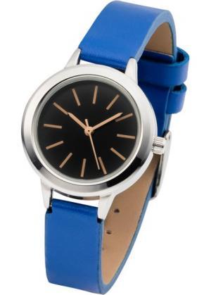 Наручные часы контрастной расцветки (синий/кремовый) bonprix. Цвет: синий/кремовый