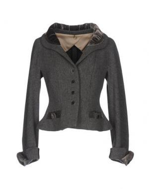 Пальто 6267. Цвет: серый