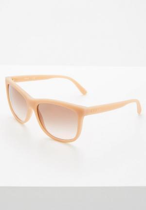 Очки солнцезащитные DKNY. Цвет: розовый