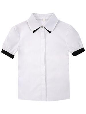 Блузка короткий рукав Pinetti. Цвет: белый