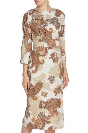 Платье NATALIA PICARIELLO. Цвет: бежевый