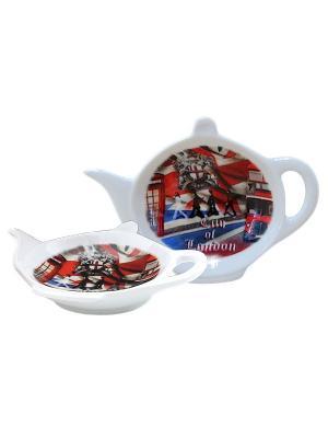 Блюдце для чайных пакетиков Gift'n'Home. Цвет: красный, белый, черный, серый, коричневый