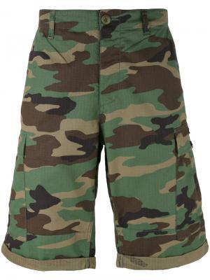 Камуфляжные шорты карго Tommy Jeans. Цвет: многоцветный